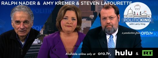 Ralph Nader on Third Parties & Former Congressman Steven LaTourette Takes on Tea Party Express' Amy Kremer - PoliticKING