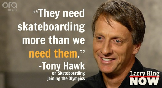 Tony Hawk on Skateboarding in the 2020 Tokyo Olympics
